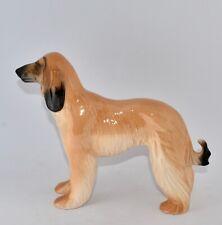 English Porcelain AFGHAN DOG Figure - 17.5cm