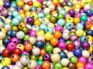 400 Mixed Color 3D Illusion Acrylic Miracle beads 6mm Spacer Beads