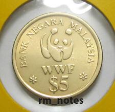 "MALAYSIA  RM5 Commemorative Coins 1992  20th Anniversary WWF  ""BU"""