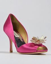 NIB Badgley Mischka Clarissa D'orsay open toe pump heel sandals shoes 7,5 M ROSE
