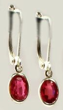 Antique 19thC Ruby Ancient Celtic Magic Amulet Lightening Plague Evil Earrings