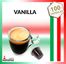 100 Karoma capsules Compatible Nespresso Machines ( Vanilla)