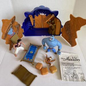 Vintage 1990s Disney Mattel Aladdin Playsets Lot Cave Of Wonders