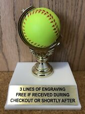 Softball Trophy - Free Engraving - Assembly Required
