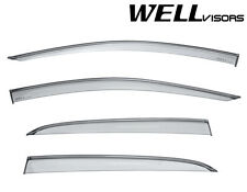 For MB 15-17 X156 GLA250 GLA45 WellVisors Side Window Visors W/ Black Trim