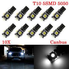 10X 12V 2W T10 W5W 501 168 Car LED Bulbs Error Free Canbus 5SMD XENON Side Light