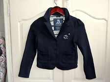 Ikks girls navy blue jersey jacket size 10