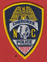 CHEROKEE  NORTH CAROLINA  TRIBAL POLICE SHOULDER PATCH