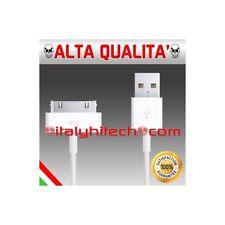 CAVO BIANCO USB DA 2 METRI PER IPHONE 3 4 4S IPAD 1 2 3 IPOD E TOUCH