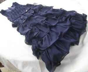 NEU: PAMPOLINA FESTIVE Kleid. Mädchen, 140 (146),  Chiffon Festlich Dunkles Blau