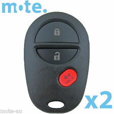 2 x Toyota Camry Remote Car Key Blank 3 Button Replacement Shell/Case/Enclosure