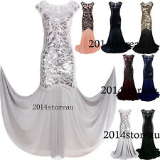 Cocktail Prom Dresses Evening Gown 1920s Flapper Gatsby Wedding Mermaids Costume