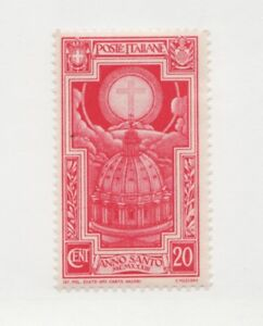 ITALY Scott #310 ** MNH f/vf , Anno Santo, religion, architecture, postage stamp