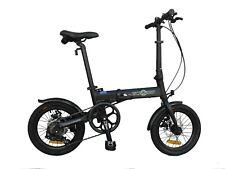 "Ecosmo 16"" Wheel Lightweight Alloy Folding Bicycle Bike 6 SP,Dual Disc -16AF02BL"