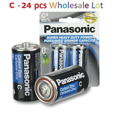 C-24 Wholesale Bulk Lot Panasonic C Batteries Super Heavy Duty Lot Battery