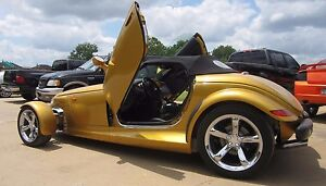 Plymouth PROWLER 97 98 99 2000 01 02 Vertical Doors inc. BOLT ON lambo door kit