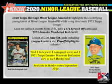 2020 Topps Heritage Minor League (Prospects, Rc's, Sp's) - Who Do You Need!