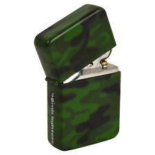 Camo Spray Windproof Lighter. Fliptop Refillable Army Forces Gift Idea