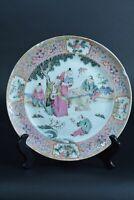 Rare assiette porcelaine chine 1820 Canton Chinois antique china porcelaine sign