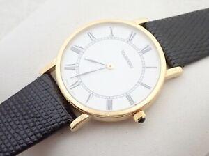 Mens Tourneau Swiss Made 18k Solid Gold Wristwatch Watch