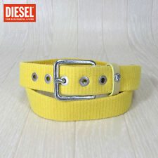 Diesel Brave Men Motif Lemon Yellow Belt Size 30/32