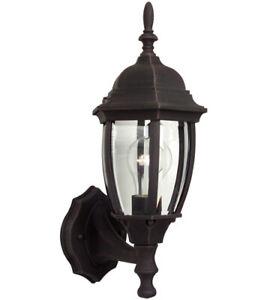 Craftmade Z260-RT Bent Glass 1 Light 16 inch Rust Outdoor Wall Lantern, Small