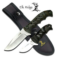 NEW! Elk Ridge 2-Pc. Camo Fixed-Blade Hunting Skinning Knife Set w/ Sheath