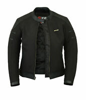 Ladies Womens Motorcycle Motorbike Windproof Waterproof Leather Softshell JACKET