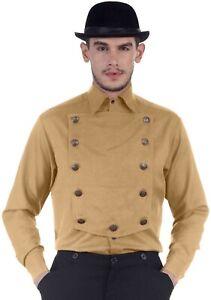 ThePirateDressing Steampunk Victorian Cosplay Men Cotton/Linen Airship Shirt
