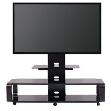 TransDeco TV Stand TV Cart w/ Mount for 40 - 80 inch TV Espresso - NEW