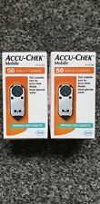 2x Accu Chek Mobile 50 tests in 1 Cassette 100 Tests In Total Brand New