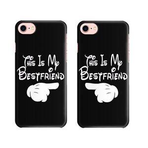 "COVER CUSTODIA in COPPIA ""BEST FRIEND"" per Apple Iphone XS Max 5s SE 6s 7 / Plus"