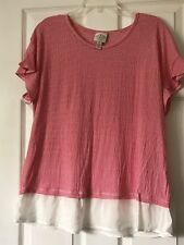 St John's Bay PXL Top, Red And White Striped. Tunic, Stretchy.