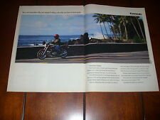 1992 KAWASAKI ZEPHYR 750  -  ORIGINAL 2 PAGE AD