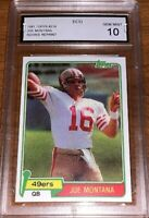 JOE MONTANA 1981 TOPPS REPRINT RC CARD#216 GEM MINT 10 GRADED