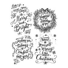 """Tim Holtz Cling Stamps 7""""x8.5""""-doodle Greetings #1"""
