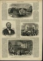 1st African American Church Richmond Baptizing 1874 great old print for display