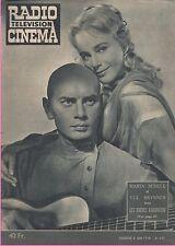 ▬►RADIO CINÉMA TÉLÉVISION 438 (1958) MARIA SCHELL_YUL BRYNNER_JACQUES TATI