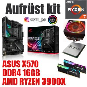AMD 🆁🆈🆉🅴🅽 9 3900X ● ASUS X570 STRIX Mainboard ● 16GB RAM ● Ryzen Bundle Kit