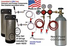 HomeBrew Kit 2 Tap Dual Body Reg, 2- 5 Gal Pinlock Kegs, 5 lb CO2 (HK222PD-EBAY)