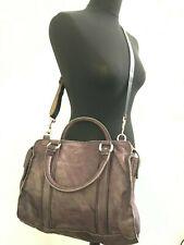 Large Liebeskind Brown Leather Bag Hipster Shopper Tote travel blogger boho big