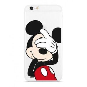 Handyhülle Samsung A70 A705 Disney Backcover Silikon Micky Maus transparent