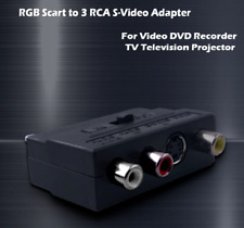 SCART ADAPTOR INPUT-OUTPUT SWITCH AV TO 3 RCA PHONO S-VIDEO COMPOSITE UK