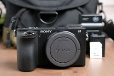 Sony Alpha a6500 24.2MP Digital Camera - Black (Body Only) w/Chrgr, SD and Bag