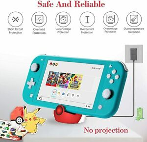 Fast Charger Charging Dock Station Stand Holder for Nintendo Switch Lite Console
