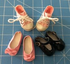 "THREE PAIRS OF SHOES fits 13-14"" Corolle Les Cheries Doll Clothes SH04"