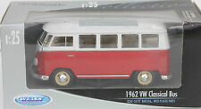 JOUET ANCIEN EN METAL - WELLY - 1962 VW CLASSICAL BUS - 1/25 - 17 cm