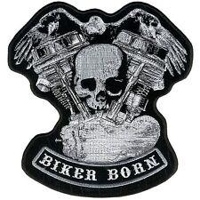 "Panhead Skull Eagle Patch 5"" Aufnäher Motorrad farbecht gestickt Totenkopf Biker"