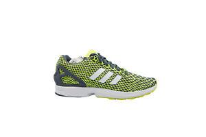 [B24934] Adidas ZX Flux TechFit Mens Running Yellow/White-Onix