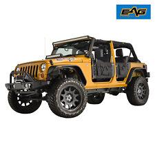 EAG 4 Tubular Doors With Cargo Bags & Mirror for 07-18 Jeep Wrangler JK 4 Door